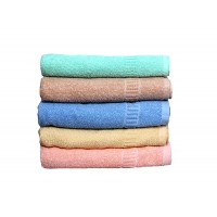 BATH TOWEL SET OF 5 / LIGHT COLORS TURKISH TOWEL IN COTTON