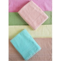 LIGHT COLORS TOWEL SET / BATH TOWEL SET OF 2 PIECES IN PURE COTTON