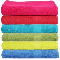 SOFT AND STRIPE BORDER MEDIUM COTTON BATH TOWEL PACK OF 1