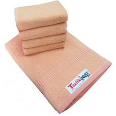COTTON LIGHT COLOURS TURKISH PLAIN BATH TOWEL AND 4 PLAIN NAPKINS SET