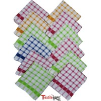 "Cotton Hand Napkins Set 12""x 12"" Napkins / Set of 12 Pcs - Ideal for School Children"