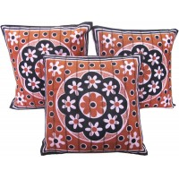 ATTRACTIVE FLORAL DESIGN COTTON CUSHION COVER PACK OF 3 PIECE
