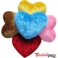 SOFT MULTI COLOUR HEART SHAPE CUSHIONS SET OF 5 PCS