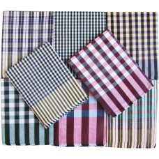 Cotton Single Bed Sheet in Checks Design Combo Set 1+1