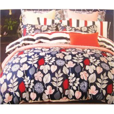 Leafy Design Pure Cotton Single Bedsheet Set / Floral Designer Soft Cotton Bed Cover