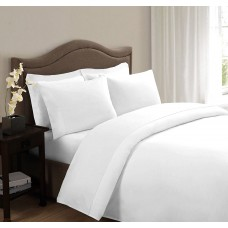 100% Cotton Pure White Single Bedsheet Set /Superior Soft Cotton Bedsheet  Set