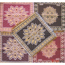 COTTON MULTI COLOUR POOJA AASAN MAT SET OF 5 PCS