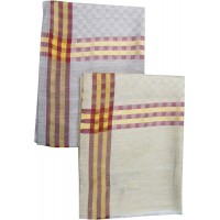 LIGHT WEIGHT MENS WOVEN CHECK SHAWL SET OF 2