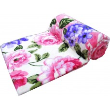 FEATHER TOUCH SUPER SOFT FLORAL PRINTED SINGLE SIZE BLANKET
