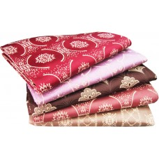 FANCY FLORAL SILK SOLAPUR SINGLE BLANKET CUM BEDSHEET