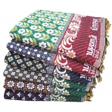 FLORAL SMALL DESIGN LARGE SIZE PURE COTTON SOLAPURI CHADDAR BLANKET FOR DOUBLE BED PACK OF 1