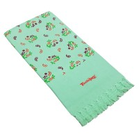 Cotton Printed Soft Towel Set /  Flower Design Printed Towel  Set - Pack of 2