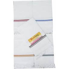 COTTON TOWELS IN PURE WHITE SET OF 2
