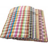 Dark Color Cotton Checks Towel, Set of 6 Towels