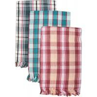 COTTON BATH TOWELS IN REGULAR CHECKS DESIGN - SET OF 2