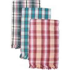 COTTON BATH TOWELS IN REGULAR CHECKS DESIGN - SET OF 2