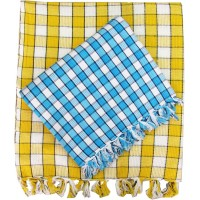 CHECKS COTTON TOWELS PACK OF 2 / BEST QUALITY DAILY USE TOWELS
