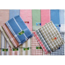 Cotton Checks Towel Set / Multi color Checks Towel  (Pack of 2 )
