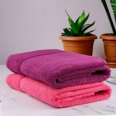 BATH TOWEL IN REGULAR SIZE PURE COTTON TURKISH TOWELS SET IN DARK COLORS - PACK OF 2