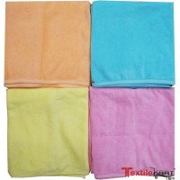 SUPER SOFT HOSIERY COTTON KIDS BATH TOWELS IN PLAIN LIGHT COLORS PACK OF 2
