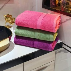 Highly Water Absorbent Soft Cotton Turkish Bath Towels Set - Pack Of 3