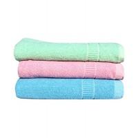 COTTON TURKISH TOWEL / SET OF 3 LIGHT COLOR TOWELS