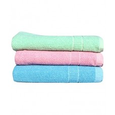 COTTON TURKISH TOWEL / SET OF 3 LIGHT COLOR TOWELS