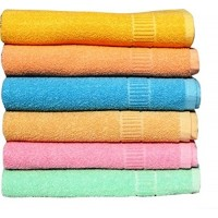 TURKISH TOWELS AT OFFER PRICE / BATH TOWEL SET OF 6 / BEAUTIFUL LIGHT COLORS TOWEL SET