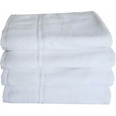COTTON WHITE TOWEL SET / THICK BATH TOWELS - PACK OF 2