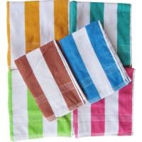 LINING STRIPE TOWEL SET BEACH TOWEL - PACK OF 2