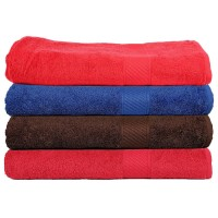PURE COTTON EXTRA LARGE BATH TOWEL SET OF 2 PIECES , AVAILABLE IN DARK SHADES