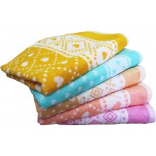 COTTON BATH TOWELS IN LIGHT COLOR / TOWEL SET OF 2PCS IN PURE COTTON