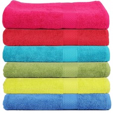 BORDER JAQUARD THICK COTTON TURKISH BATH TOWEL - PACK OF 1