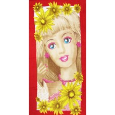 BARBIE GIRL PRINTED VINTAGE COTTON BATH TOWEL