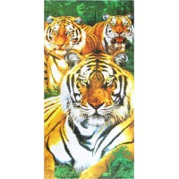 TIGER THEME COTTON BLENDED CARTOON BATH TOWEL PACK OF 1