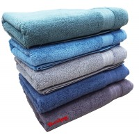 THICK REGULAR SIZE SUPER ABSORBENT COTTON SOFT BATH TERRY TOWEL FOR MEN AND WOMEN -PACK OF 2