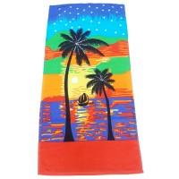Colourful Custom Printed Beach Bath Towel For Boys/ Girls - Pack Of 1