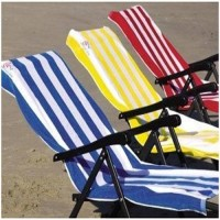 BATH TOWELS  IN COTTON / LINING BEACH TOWEL SET OF 2