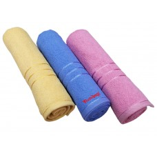 Cotton Turkish Bath Towels In Light Colours In Regular Size Pack Of 3 Pieces