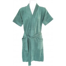Soft Green Color Bathrobe for Men and Women - Pack of 1