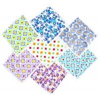 Printed Hosiery Cotton Napkins Set of 7 Pieces /Set of 2 Packs