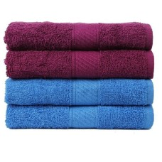 HAND TOWEL SET IN PURE COTTON  / SUPER ABSORBENT NAPKINS SET OF 4 PIECES