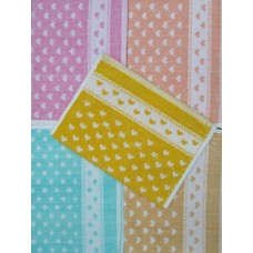 HEART PRINTED COTTON HAND TOWEL  SET OF 6 PIECES