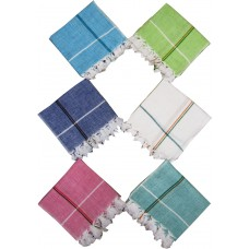 HAND LOOM PURE COTTON KHADI NAPKINS - PACK OF 6