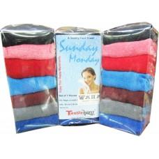 Kids Hoseiry Cotton Dark Color Hand Napkins Set of 7 pieces /Set of 3 packs