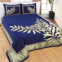 BLUE COLOR REVERSIBLE PREMIUM QUALITY CHENILLE KING SIZE BEDSHEET  - PACK OF 1