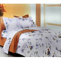 EXTRA DOUBLE SIZE BED SHEET WITH 2 PILLOW COVERS IN SMALL FLORAL PRINTED  DESIGN