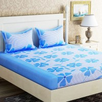 POLYCOTTON FLORAL DOUBLE BEDSHEET WITH 2 PILLOW COVERS PACK OF 1