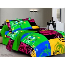 DARK FLORAL 3D PRINTED DOUBLE BEDSHEET WITH 2 PILLOW COVERS FINEST QUALITY PACK OF 1