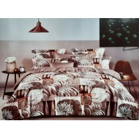 PURE COTTON NIGHT GLOW FLORAL DOUBLE BEDSHEET WITH 2 PILLOW COVERS
